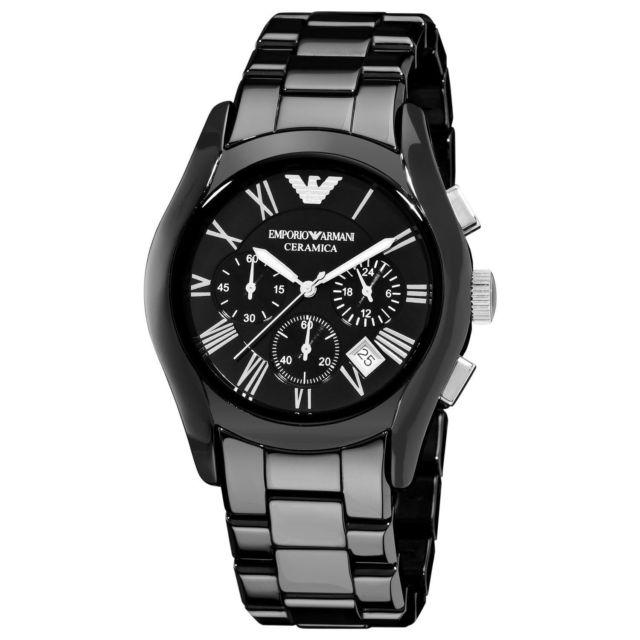 Buy Emporio Armani Black Men S Ceramica Watch Ar1400 Emporio Armani Online