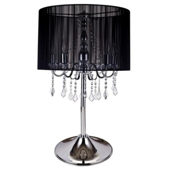 Sheldon Black Line Shade Table Lamp