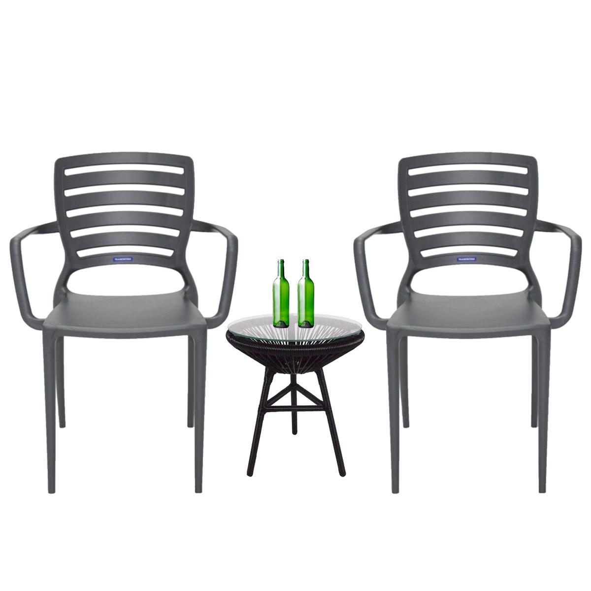 Sofia Armchair Patio Set | Outdoor Chair | Patio Furniture | Balcony and Garden | Plastic Outdoor Chair