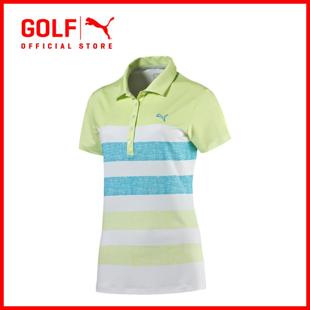 6230bd248313 Puma Golf Women Road Map Texture Polo - Sharp Green