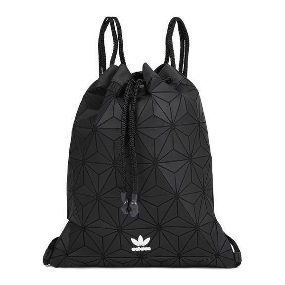 Adidas Black Drawstring Bag Issey Miyake