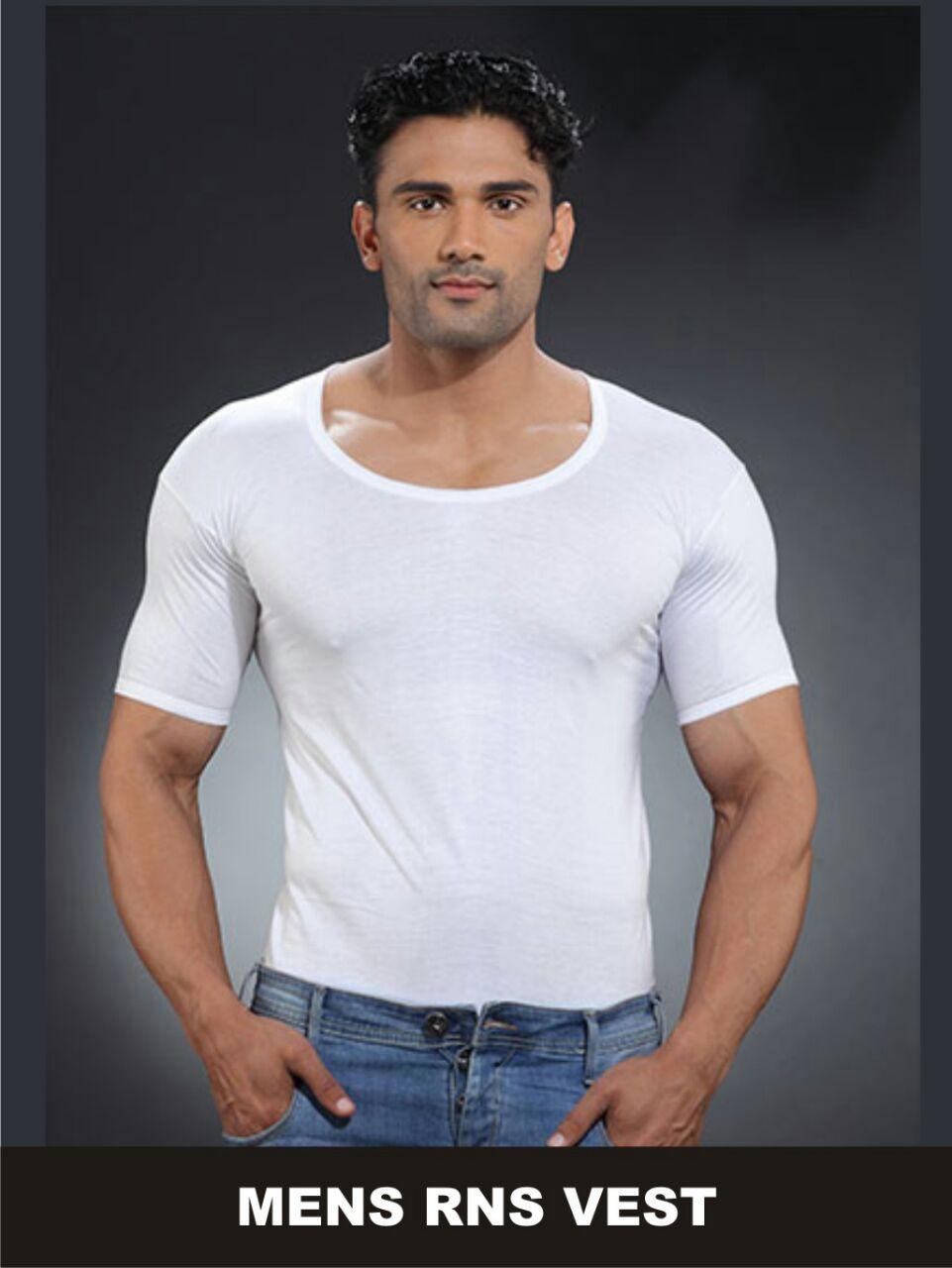 Men Cotton Vest / Singlet - Sleeve - 5 Pcs By Arm Clothings.
