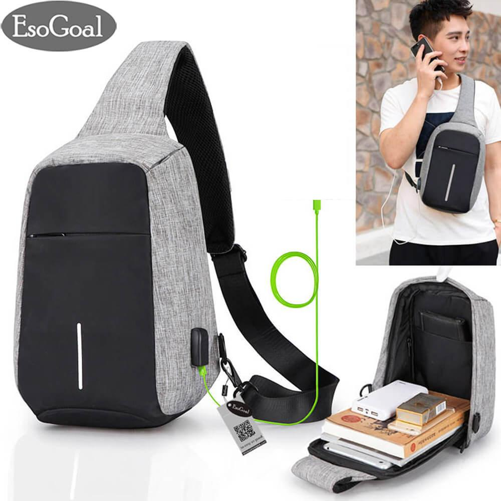 594f2a52e5 EsoGoal Men Bags Anti Theft Bag Shoulder Chest Backpack Lightweight Casual  Daypack