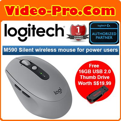 2be2114317c [Free 16GB Thumb Drive] Logitech M590 Multi-Device Silent Bluetooth Mouse  for Windows/Mac Singapore
