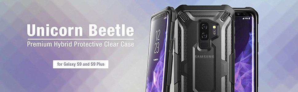 outlet store e6aaf 2b292 SUPCASE Samsung Galaxy S9+ Plus Case Premium Hybrid Protective Clear Case  Phone Back Cover