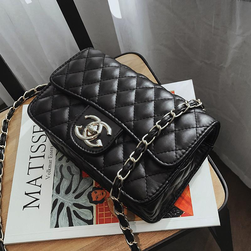 28e155e1e1b Graceful Bags Female 2019 New Style Fashion Rhombus Chain Bag Korean Style Shoulder  Bag Versatile Shoulder