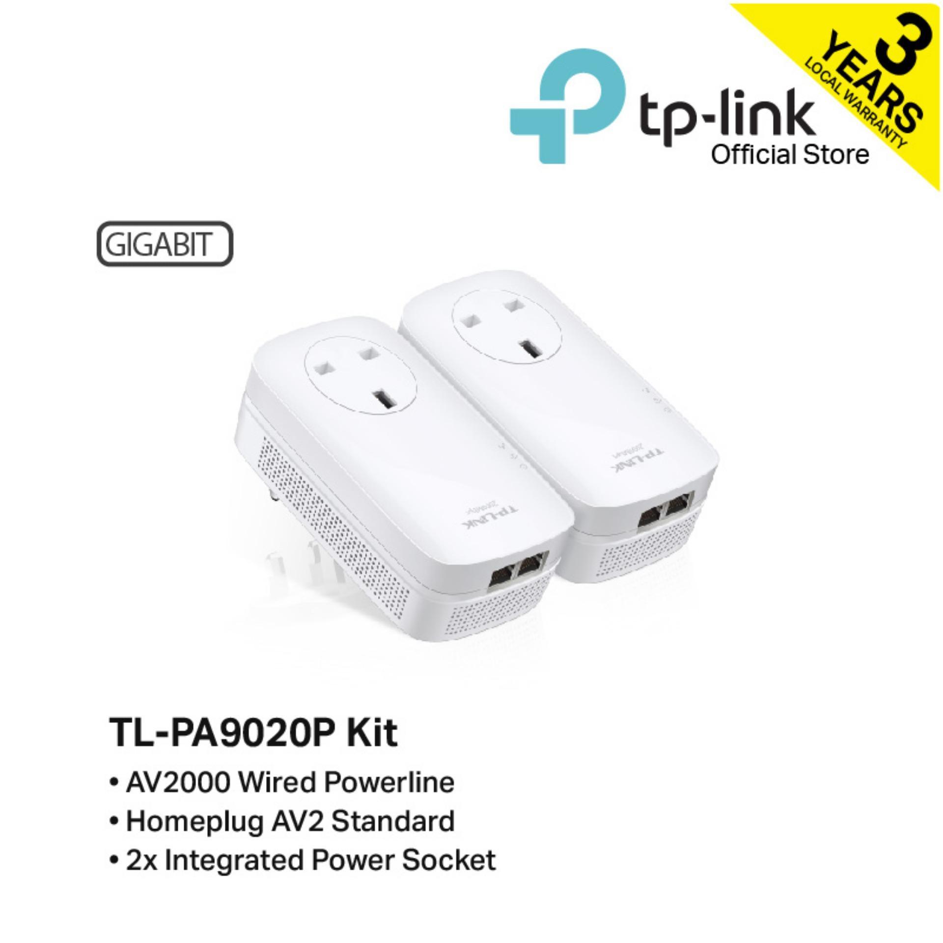 Tp-Link - Tl-Pa9020p Kit Av2000 2-Port Gigabit Passthrough Powerline Starter Kit By Tp-Link Official Store.