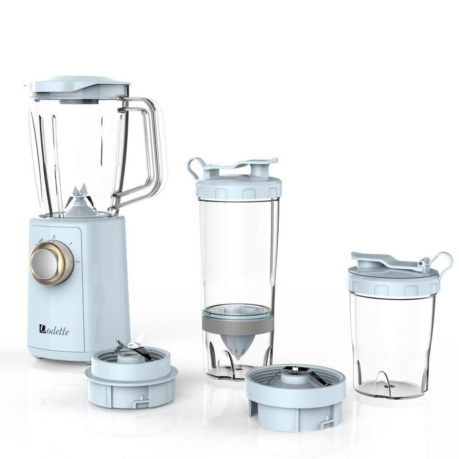 Odette Juice Blender Portable Blender 300w 2 Speed + Pulse Fruit Blender With Beakers/blender Bottle 600ml+550ml+300ml By Odette Global Pte. Ltd..