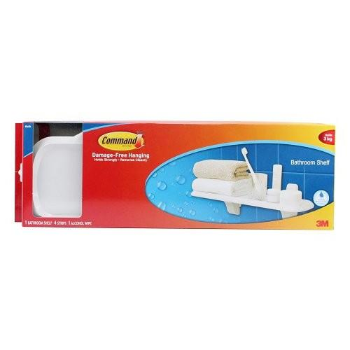Get Cheap 3M Command Bath Organization Plate Shelf Bath Accessory