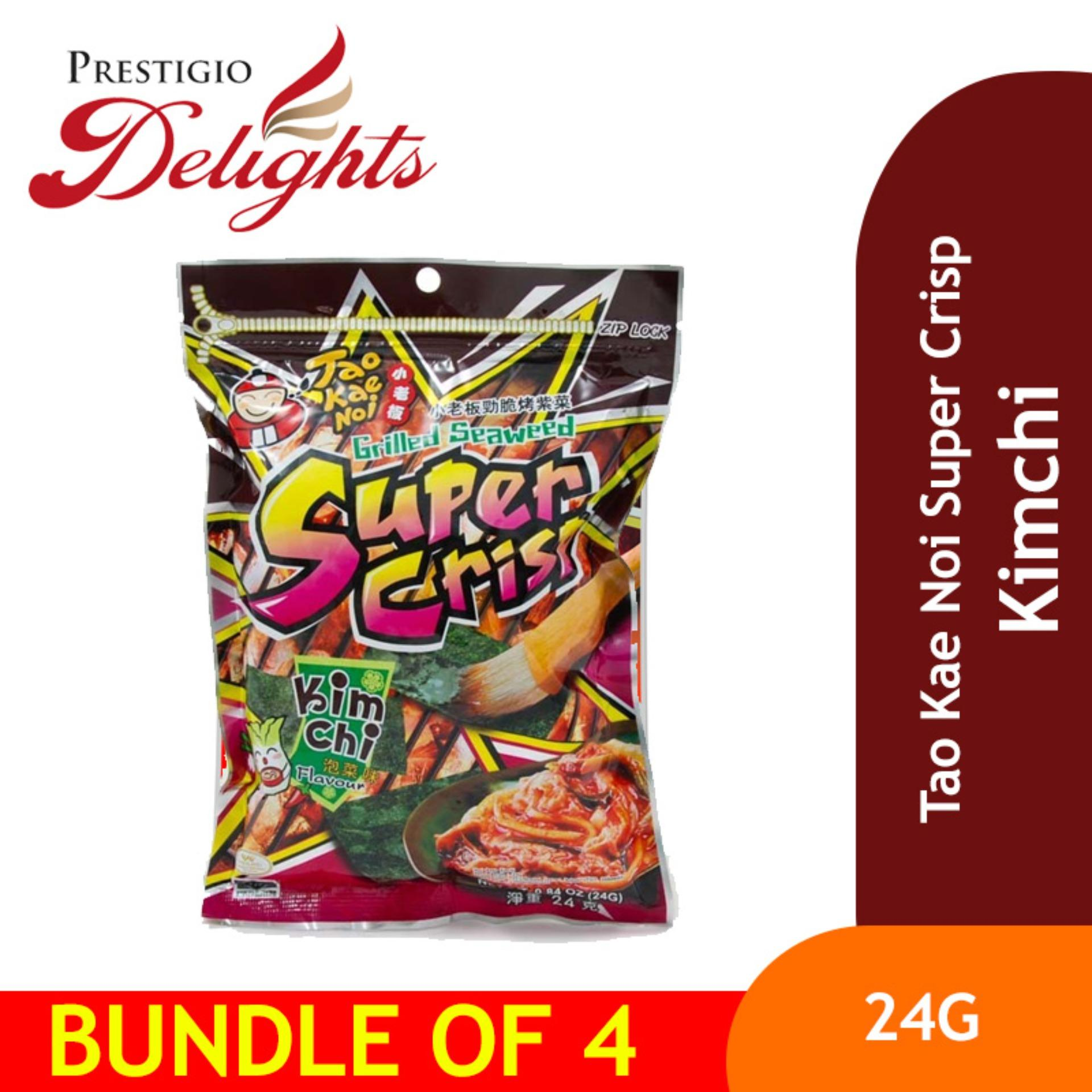 Tao Kae Noi Super Crisp - 24g Kimchi Bundle Of 4 By Prestigio Delights.