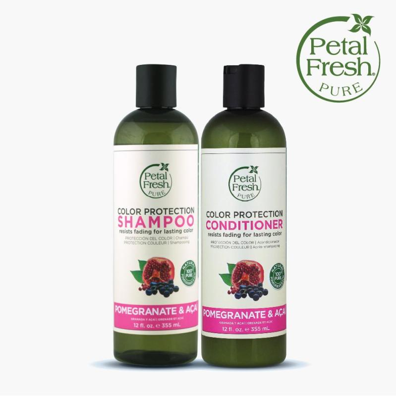 Buy [PETAL FRESH] COLOR PROTECTION SHAMPOO & CONDITIONER - POMEGRANATE & ACAI (355ML) Singapore