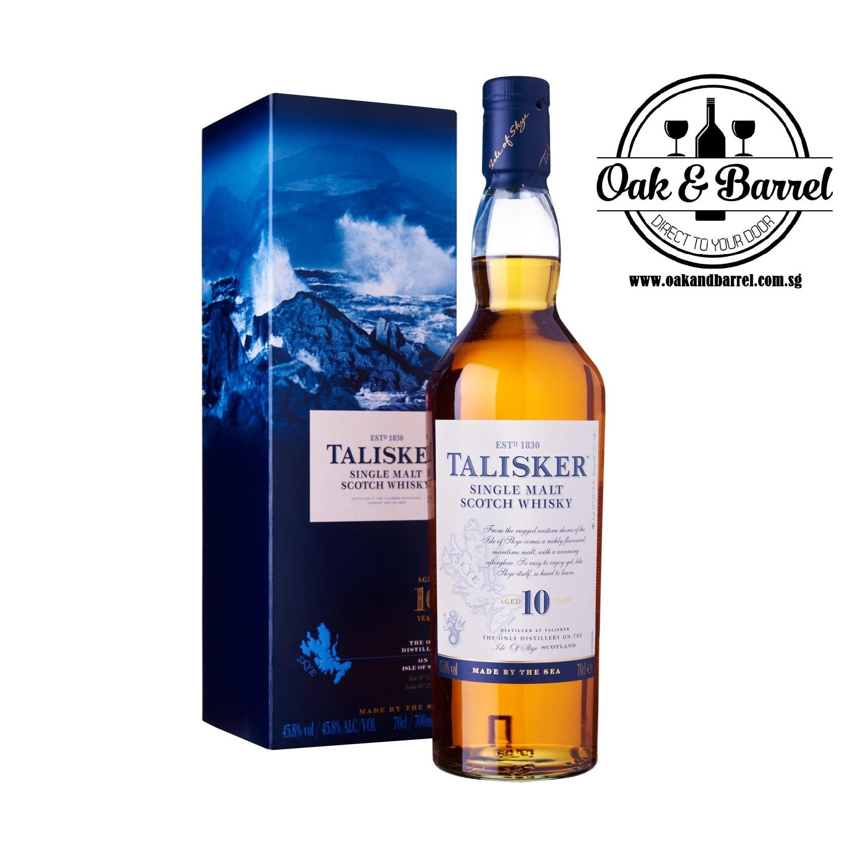New Talisker 10 Years Single Malt Whisky 70Cl