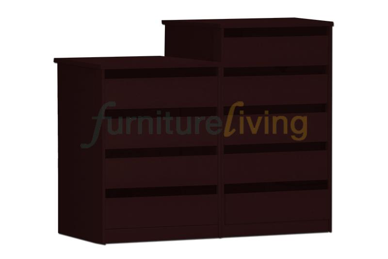 Furniture Living Chest of Drawers – 4 / 5 Drawers (Walnut)
