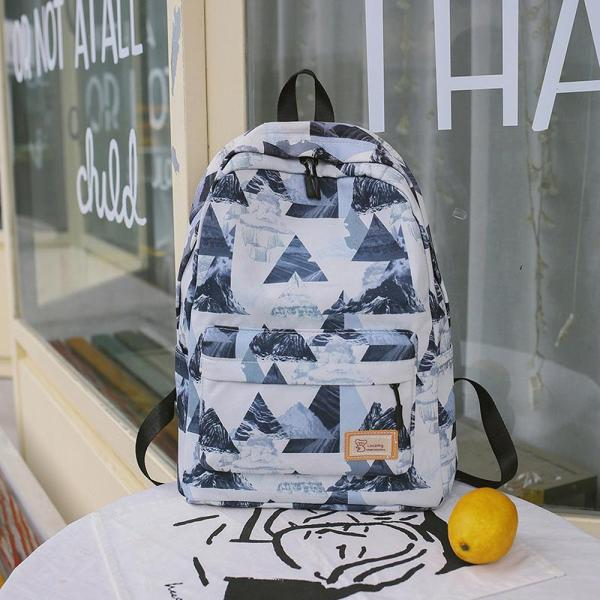 2020 New Style Printed Vendange Sense INS Hipster Backpack Korean Style Harajuku Wind Girls Heart Schoolgirl School Bag