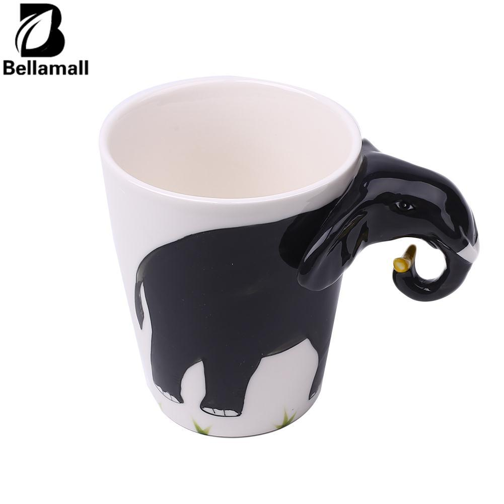 Bellamall:3D Hand Painted Animals Handle Ceramic Coffee Tea Mug Cup Cuppa Gift Home Office - intl