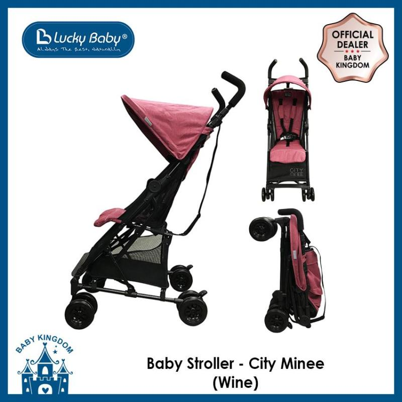 Lucky Baby Light Weight Stroller (City Minee) - Wine Singapore