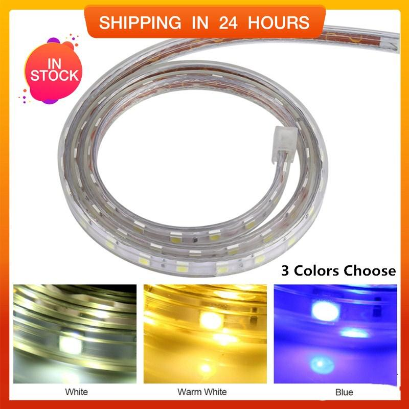 [Hot Sale] Waterproof SMD 5050 LED Strip 220V 60leds/m Flexible Tape Rope Light 5 Meters (White) - intl