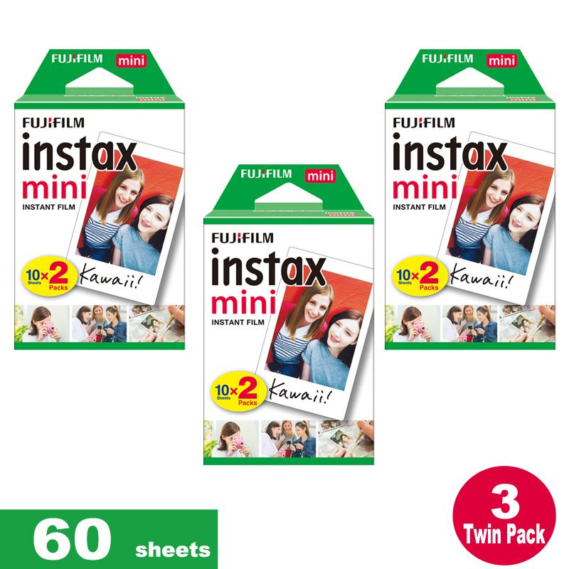 Fujifilm Instax Mini Plain Film 60 Sheets / 3 Twin Box For Instax Camera Mini 7s Mini 8 9 Mini 25 Mini 50s Mini 90 Sp 1 2 Printer By Icm Photography.