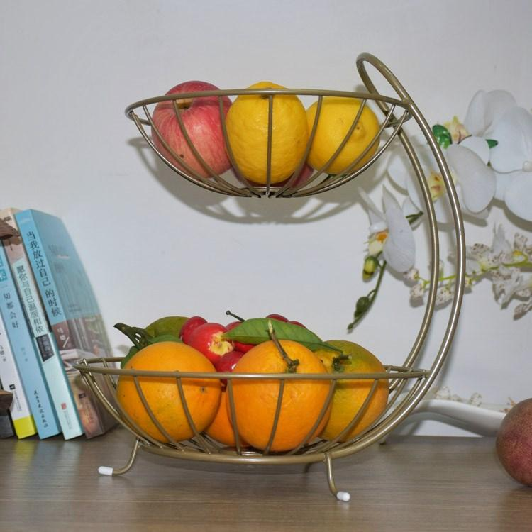 Shop Chinese luxury fruit bowl living room organizer basket