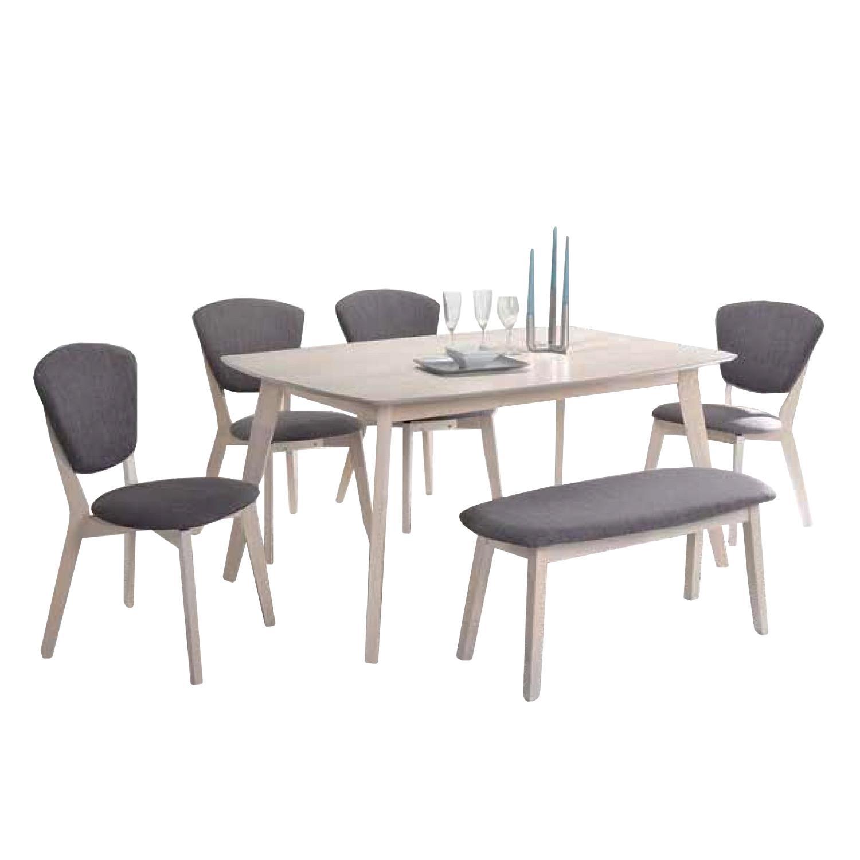 Bates Dining Set 1+4+1 BENCH