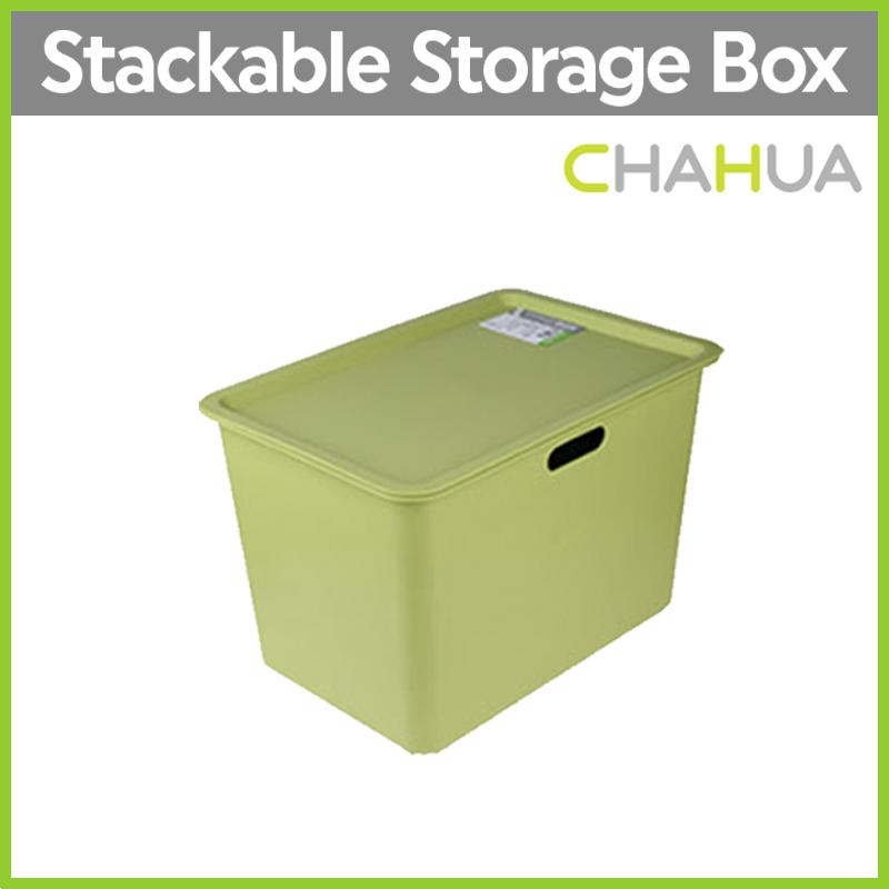 [One Mart][LIFE+] Storage Boxes with Lid ★  2 SIZES ★ 55L Transparent/ 20L Green