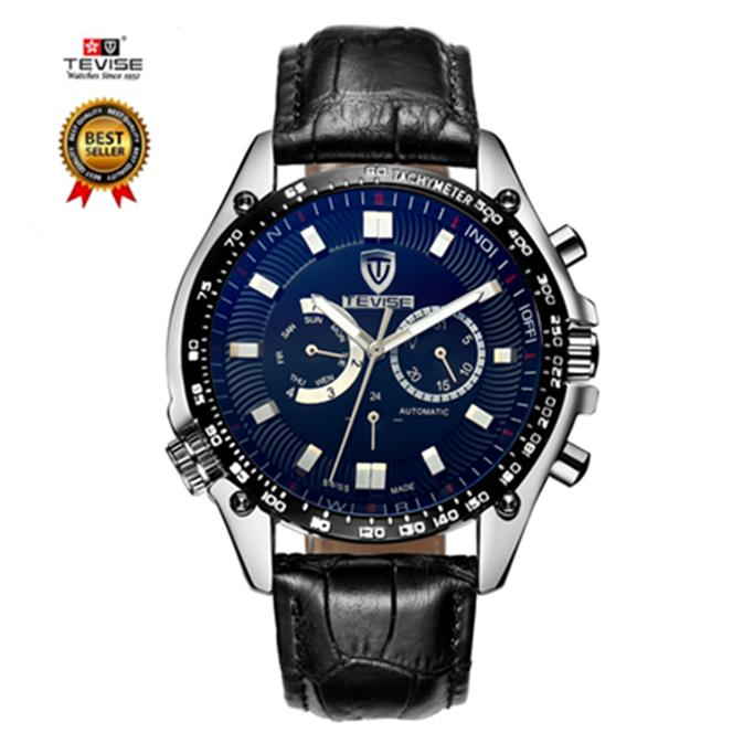 Buy 100 Genuine 2018 New Luxury Tevise Stainless Steel Calendar Function Watch Men Automatic Mechanical Watches China