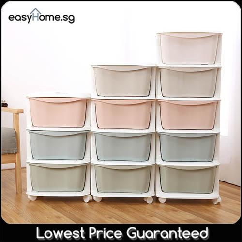 5 Tier Cabinet - Plastic Storage Box Drawer Organizer Container Rack Shelf