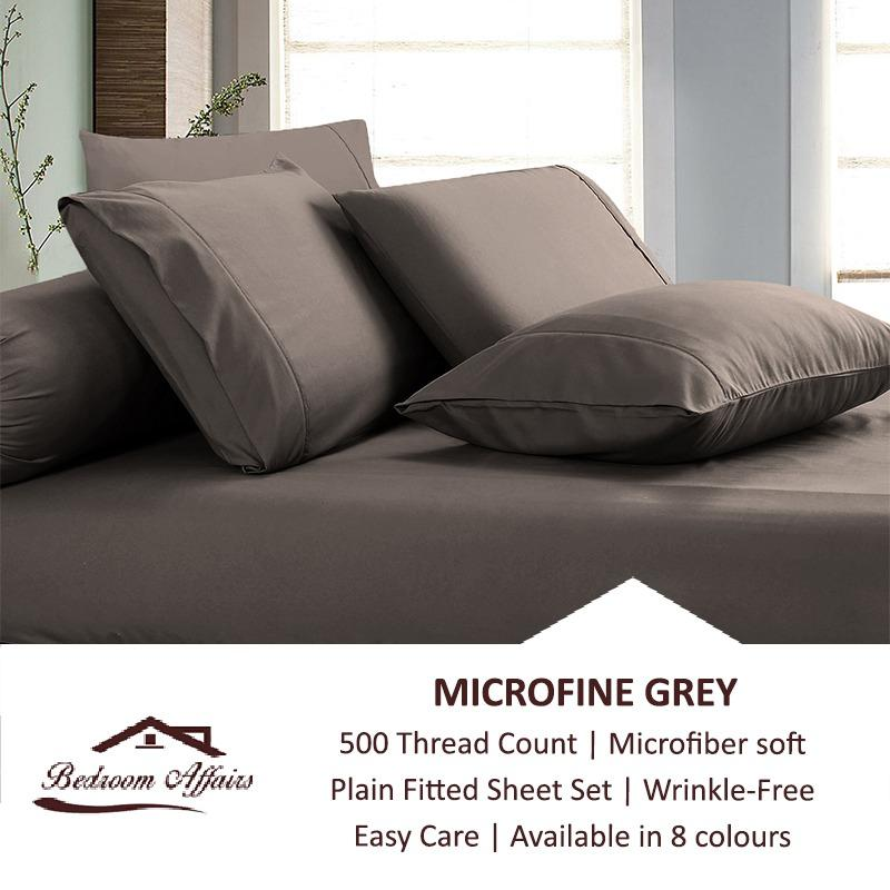 Deals For Microfine Grey Fitted Sheet Set