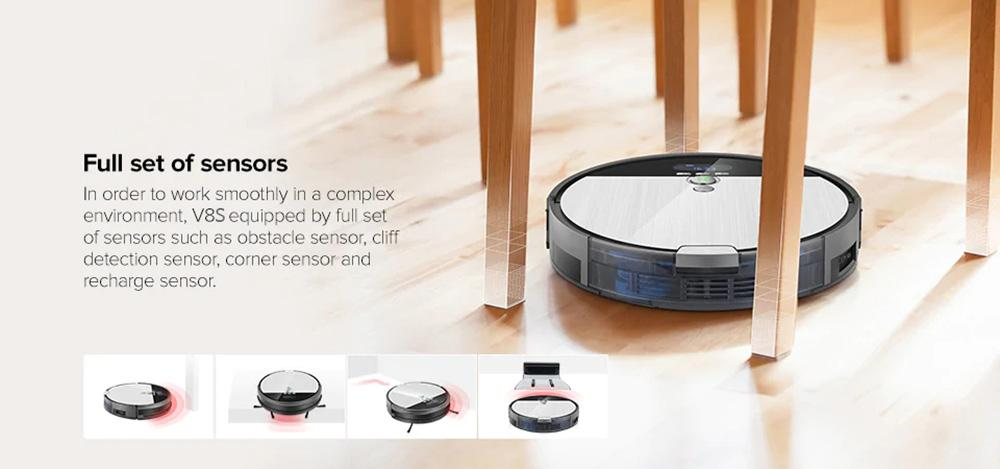 ILIFE V8S Vacuuming Mopping Robotic Cleaner with LCD Display