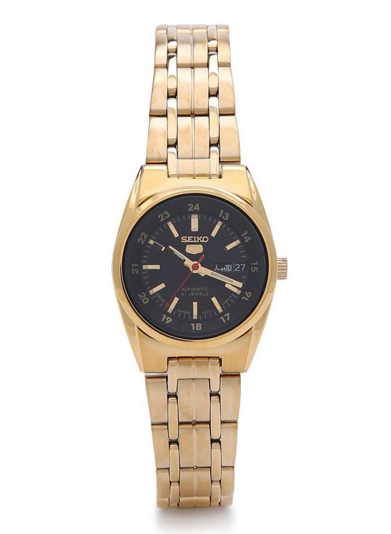 Seiko SYMC06J1 SYMC06J SYMC06 Automatic 21 Jewels Black Dial Gold Tone Women's Watch