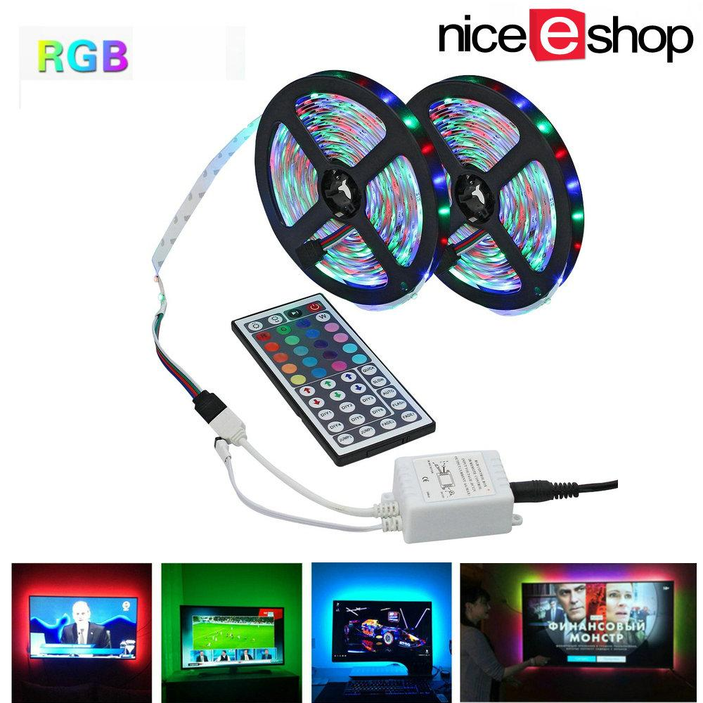Niceeshop 10m Led Strip 2 Rolls 3528 Smd 600leds Rgb Color Changing Flexible Led Strip Light Kit For Tv Backlight Home Decorative(no Adapter) By Nicee Shop.