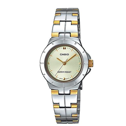 Casio Women S Silver Gold Stainless Steel Strap Watch Ltp 1242Sg 9C Sale