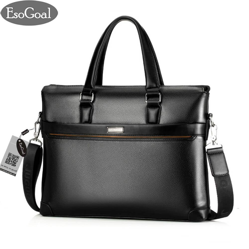 Esogoal Mens Leather Briefcase Laptop Handbag Messenger Business Bags By Esogoal.