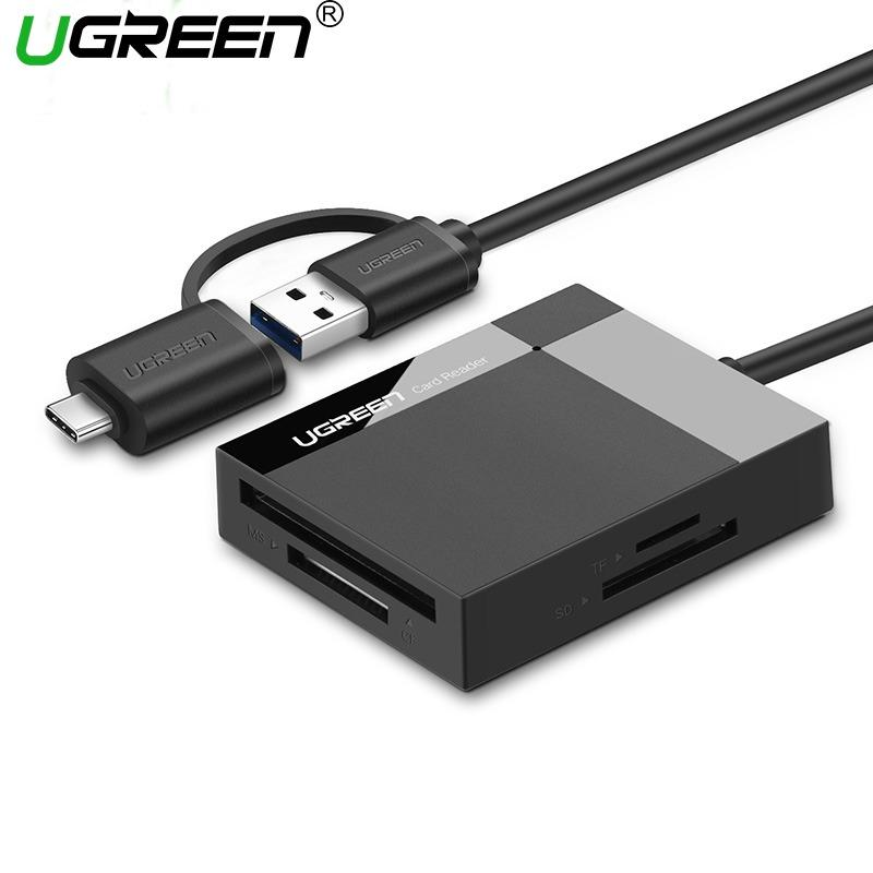 Where To Shop For Ugreen 5Meter All In One Usb 3 Micro Usb Card Reader With Otg Sd Tf Cf Ms Micro Sd Smart Card Reader For Samsung Sandisk Memory Cards Usb Sd Adapter Black Intl