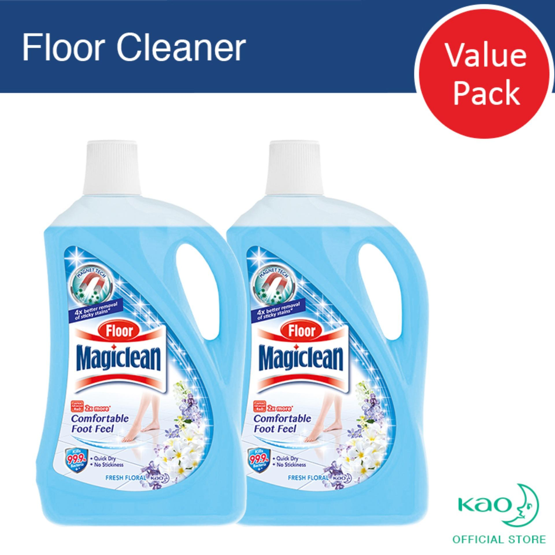 Floor Magiclean Fresh Floral 2l (set Of 2) By Kao.