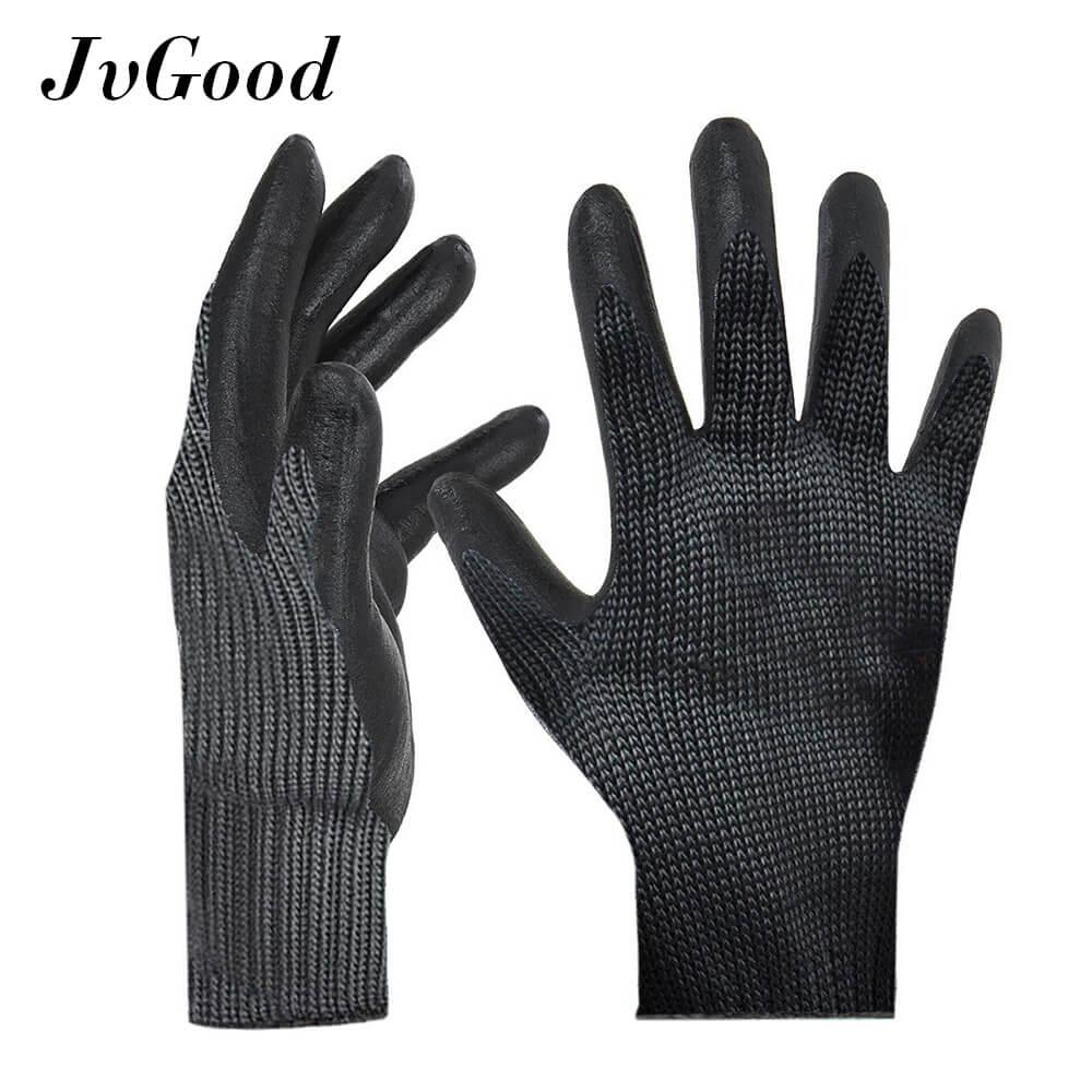 Jvgood Cut Resistant Gloves, Highest Performance Level 5 Protection, Cut Proof Gloves For Hand Safety, Kitchen Cutting, Yard Work, Outdoor Indoor Use, Lightweight, 1 Pair By Jvgood.