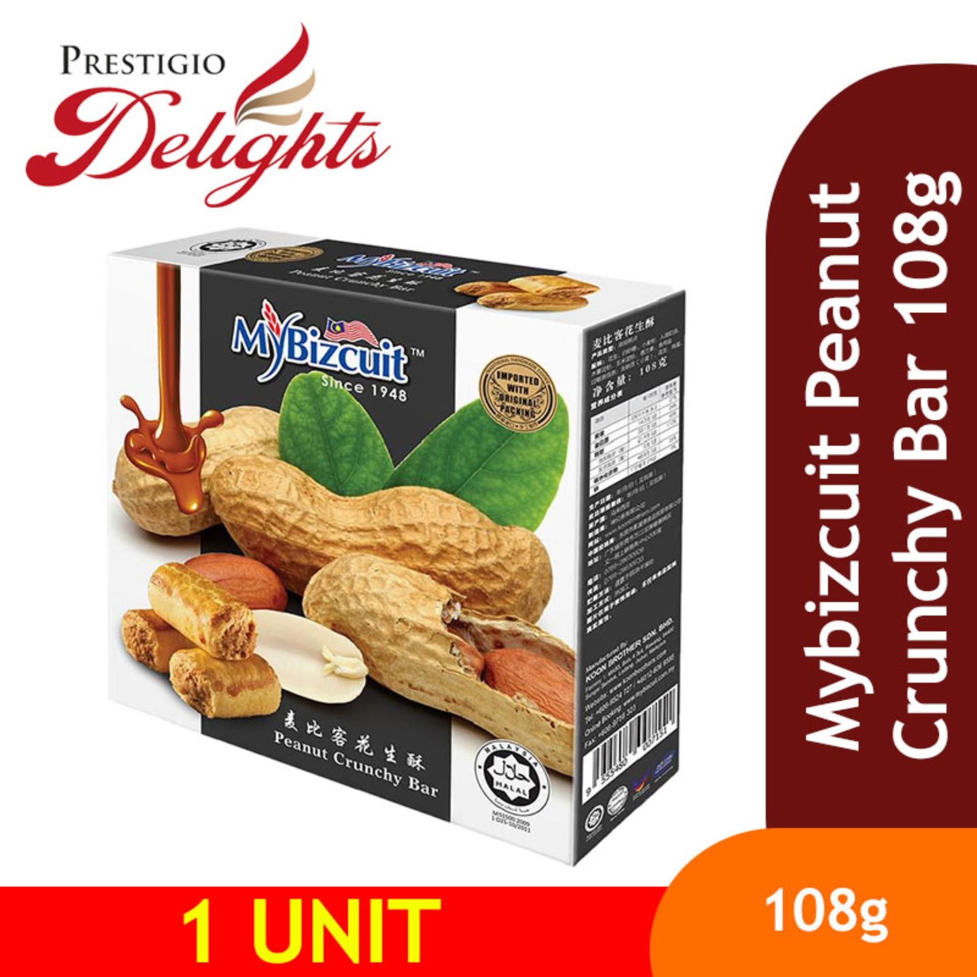 Mybizcuit Peanut Crunchy Bar 108g By Prestigio Delights.