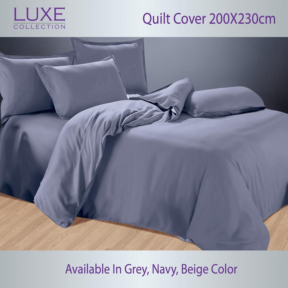Compare Prices For Luxe Collection Quilt Cover 200X230Cm Silky Soft Microfiber Quilt Cover