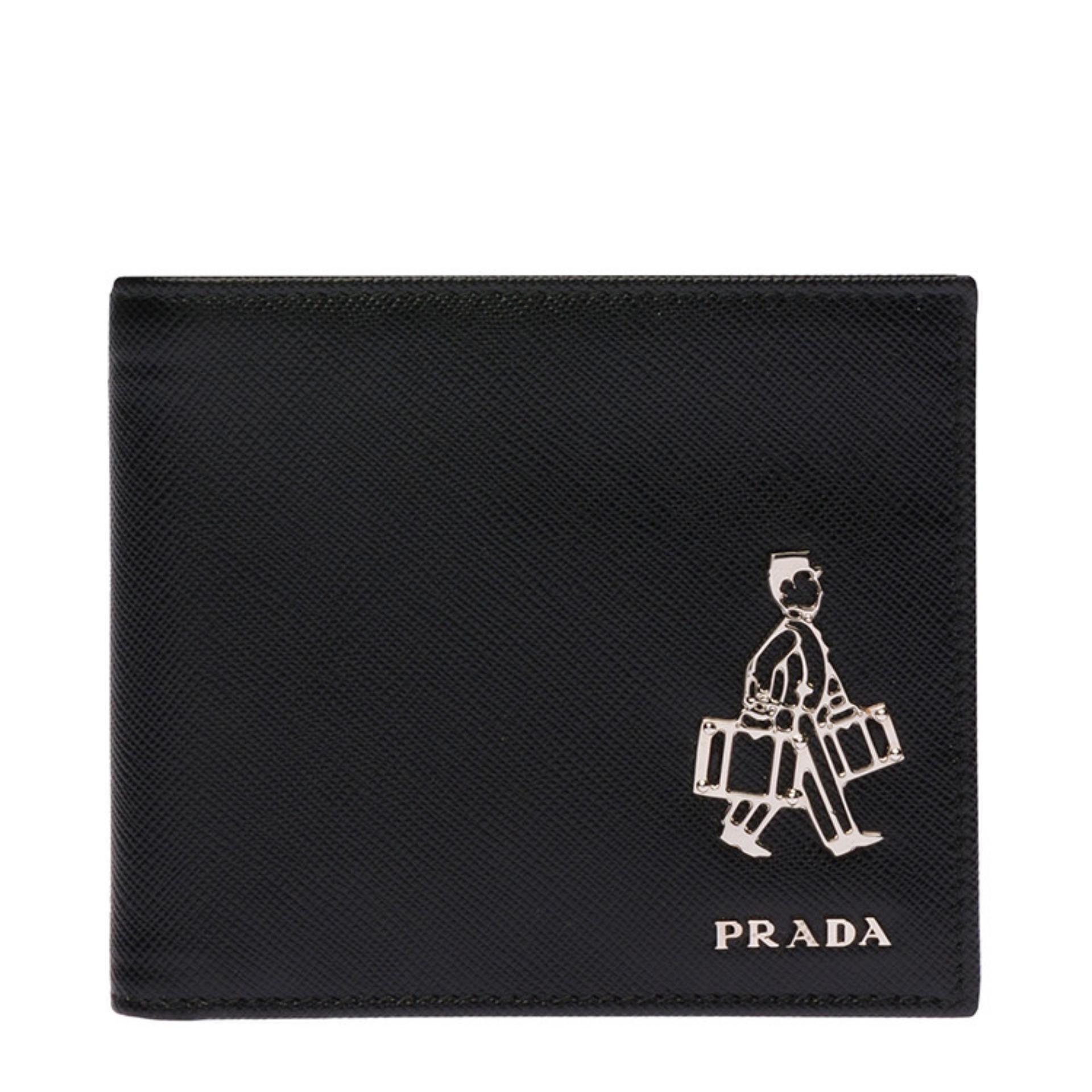 0a2141e96bfa ... where to buy singapore. prada saffiano porter bifold wallet with coin  pouch nero 2mo7389z2f0002 ca51a