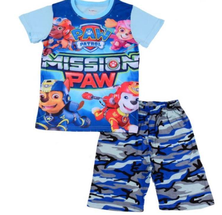 Kids Pajamas Set Paw Patrol Lightning Macqueen Sleepwear Casual Outing Wear By Eddalabz.