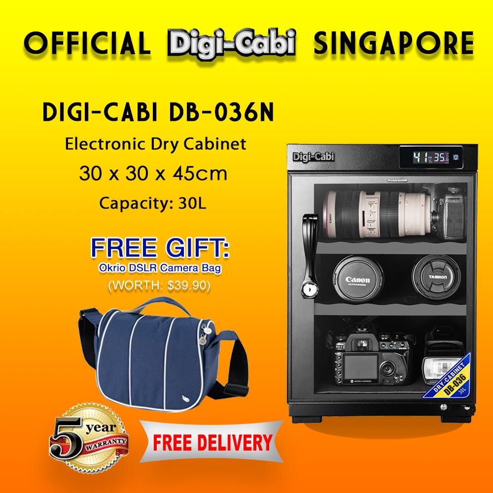 Official Digi Cabi Singapore Db 036n 30l Electronic Dry Cabinet 5 Years  Warranty