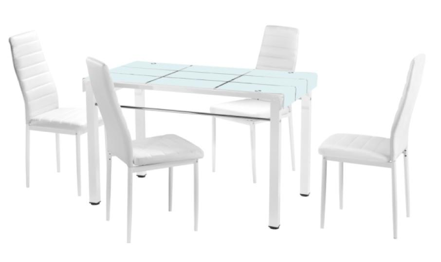 JIJI (Free Installation) Kimberly Dining Table Set (1+4) - (Dining Tables Set) - Dining (SG) Free 12 Months Local Warranty