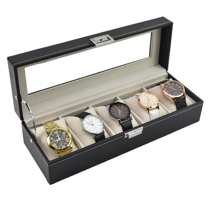 Starzdeals 5 And 10 Slot Watch Jewellery Box With Soft Cushions Suitable For Large Face Dial Watches