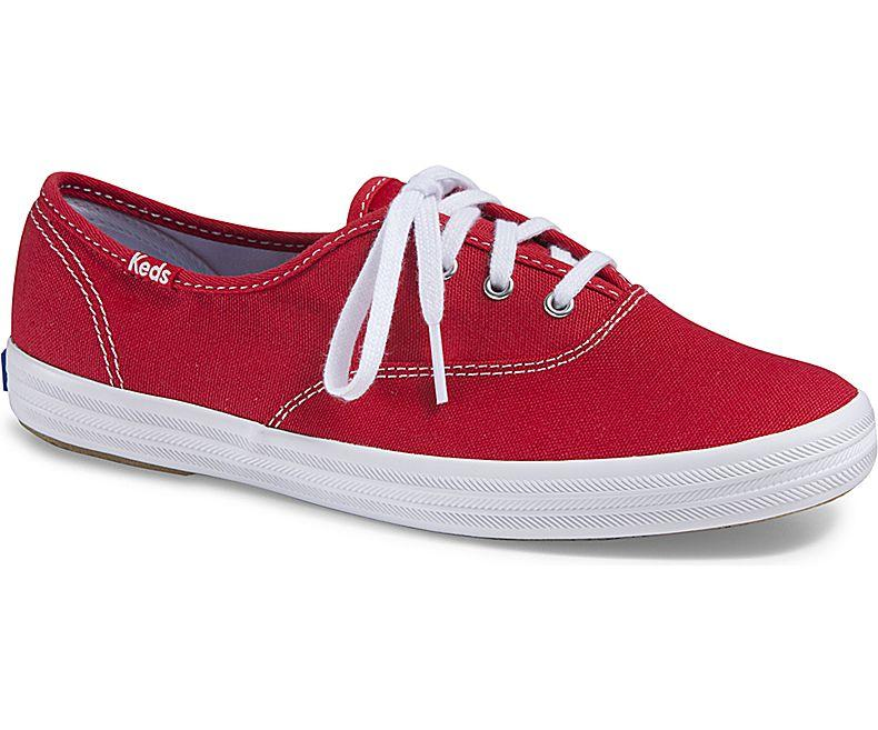 c0a02070f Keds Champion Red Canvas Sneakers WF31300