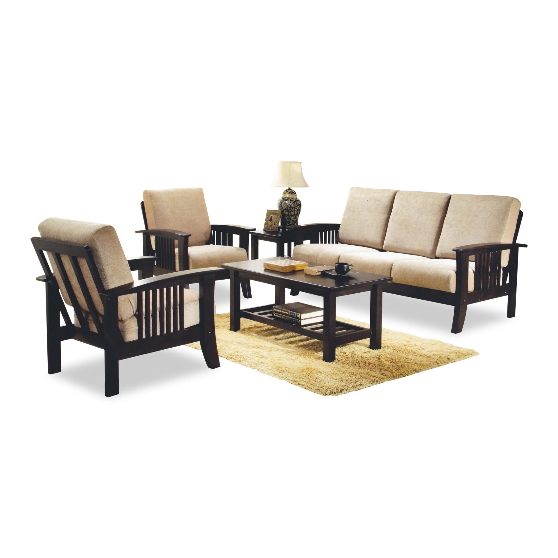 Aaron 3+1+1 Seater Sofa With Coffee Table and Side Table (FREE DELIVERY)(FREE ASSEMBLY)