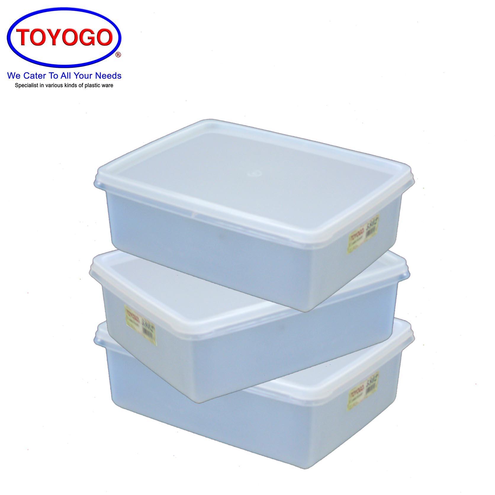 Toyogo [Bundle of 3] Plastic Storage Container Box [5802]