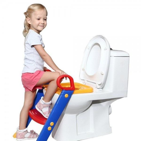Potty Training - Toddler Toilet Potty Training Ladder - Seat For Kids Chair With Sturdy Non-Slip Step Stool Ladder, Comfortable Handles And Splash Guard, Easy To Assemble Toilet Seat For Boys And Girls By Singapore Dream.