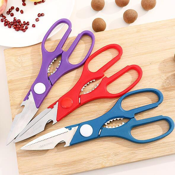 Its Not Too Late Multi-functional Stainless Steel Home Scissors Shears Kitchen Fish Bones Onion Cut Meat Food Scissors