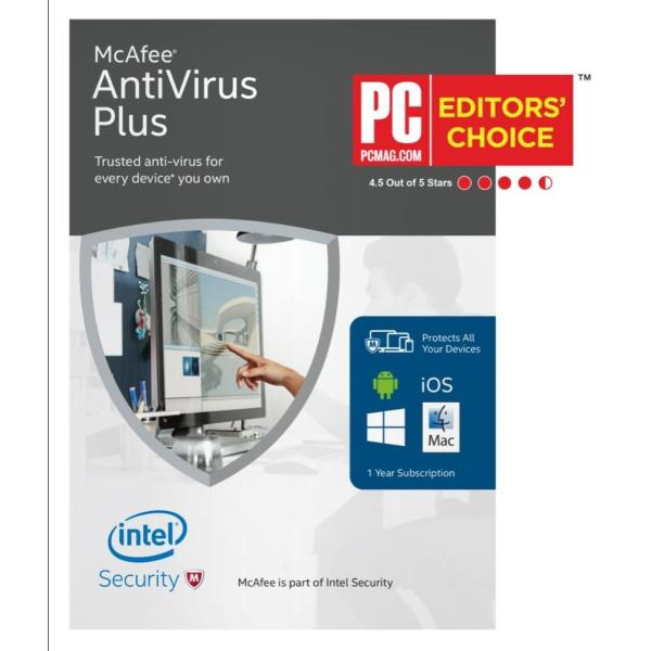 McAfee Antivirus Plus 2018 for 1-device 1-year (latest version)