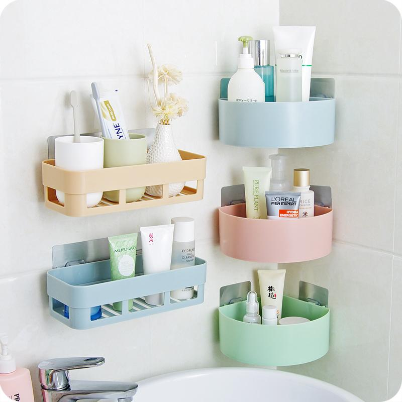 2pcs Bathroom Shelving Wall Hanging Toilet Suction Cup Storage Rack   Intl